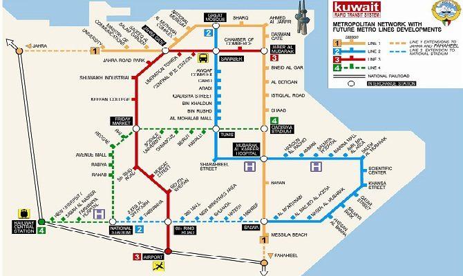 Kuwait-City-Metro-Map