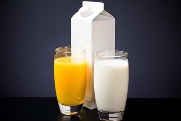 juices and dairy products